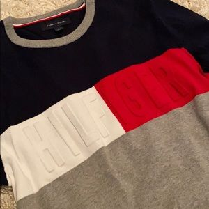 Tommy Hilfiger Crew Neck Color Block Sweater